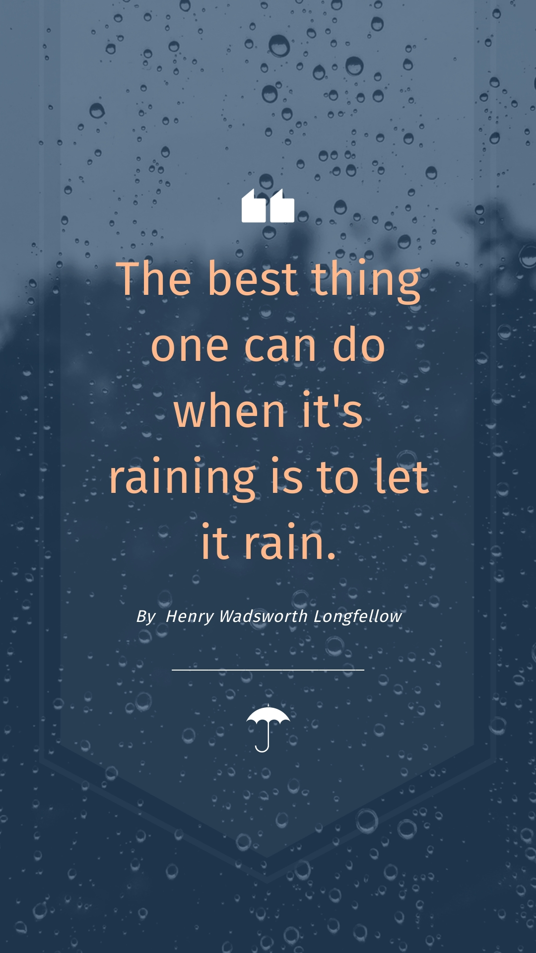 Rain Quote Phone Wallpaper Template