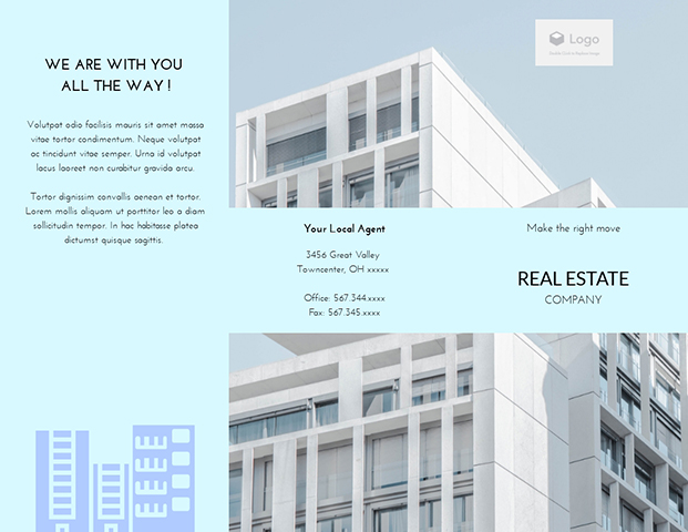 Real Estate - Trifold Brochure Template