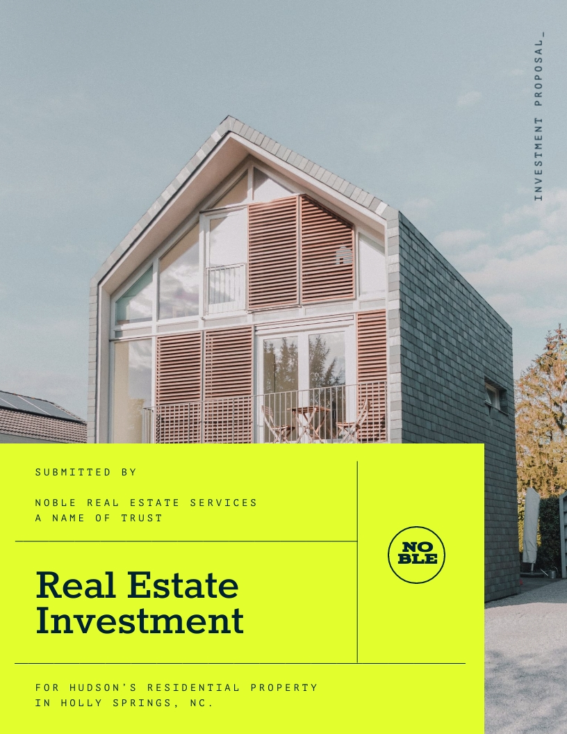 Real Estate Investment - Proposal Template