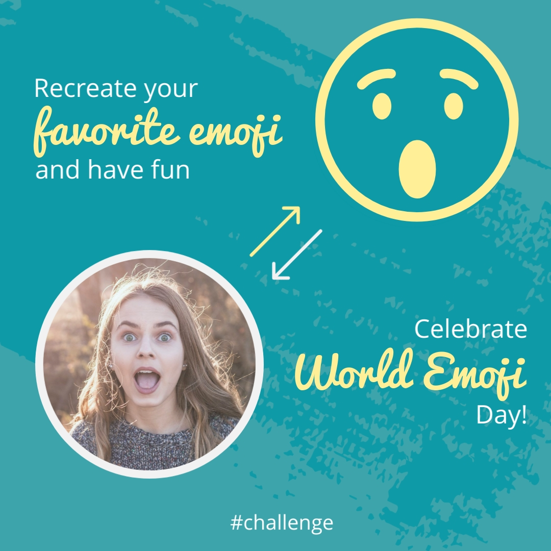 Recreate Your Emoji Animated Square Template