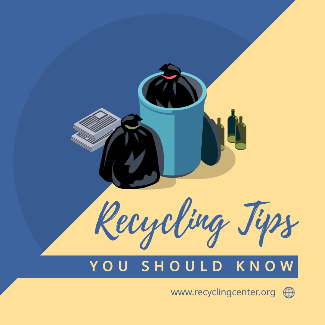 Recycling Tips You Should Know - Instagram Post Template