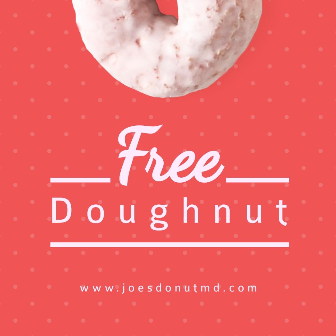 Red Free Doughnut Square Template