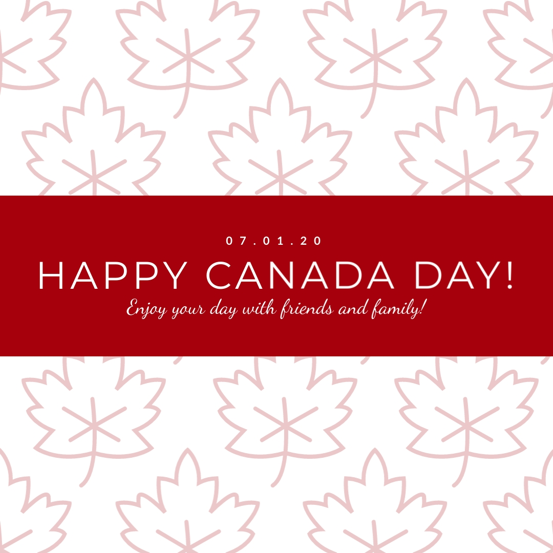 Red Leaf Canada Day Animated Square Template