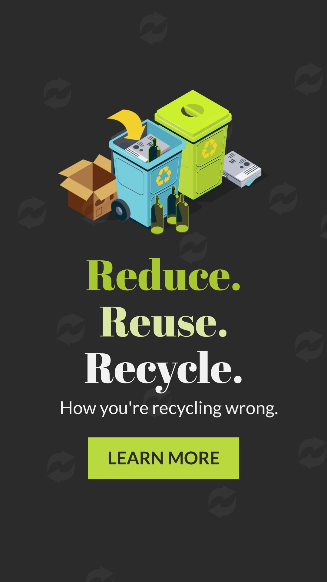 Reduce Reuse Recycle Vertical Template