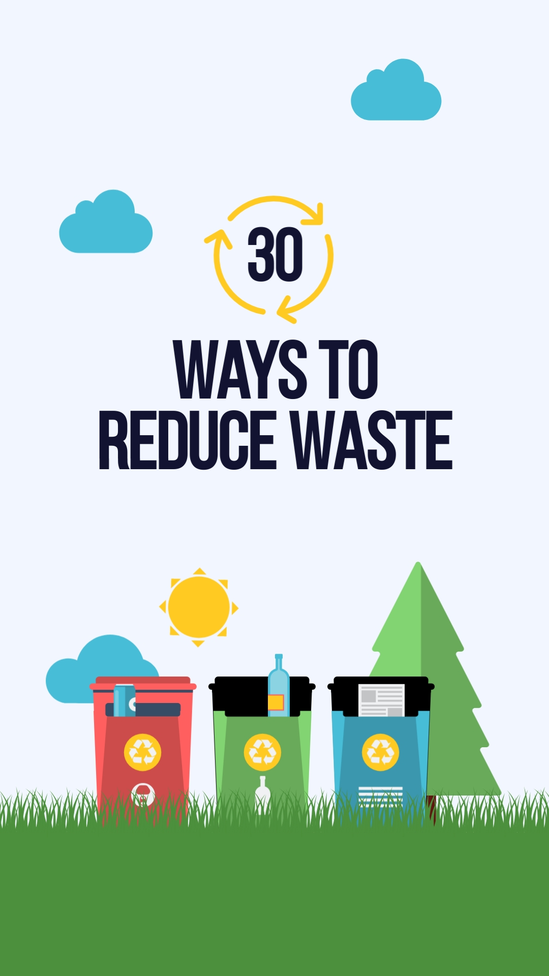 Reduce Waste Vertical Template