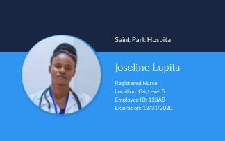 Registered Nurse - ID Card Template