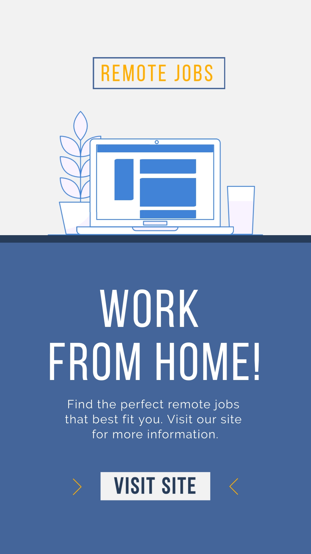 Remote Jobs Vertical Template