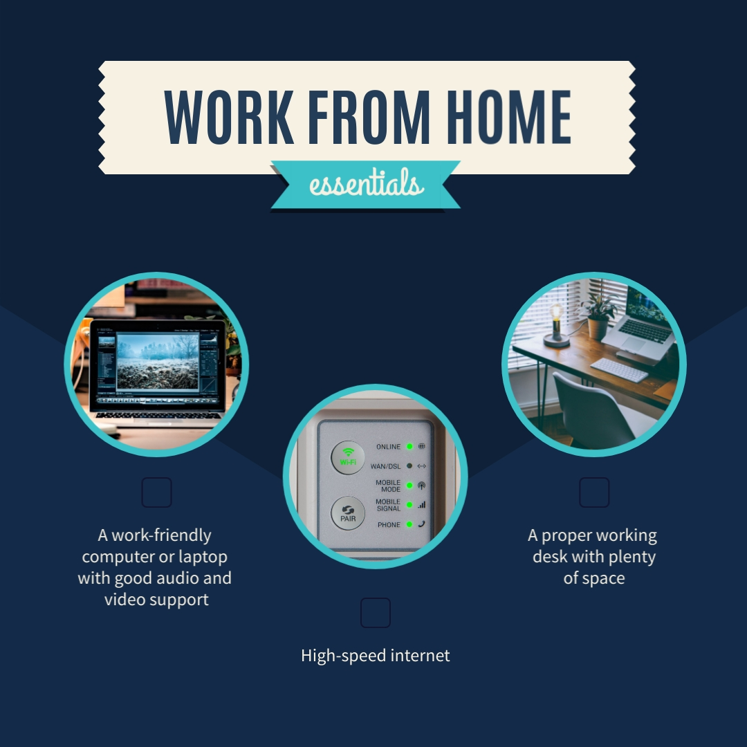 Remote Work Essentials Animated Square Template