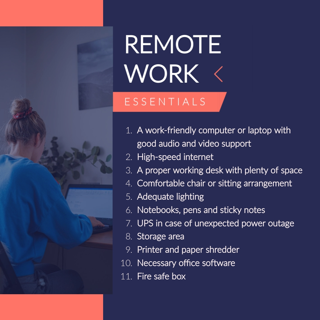 Remote Work Tips Animated Square Template