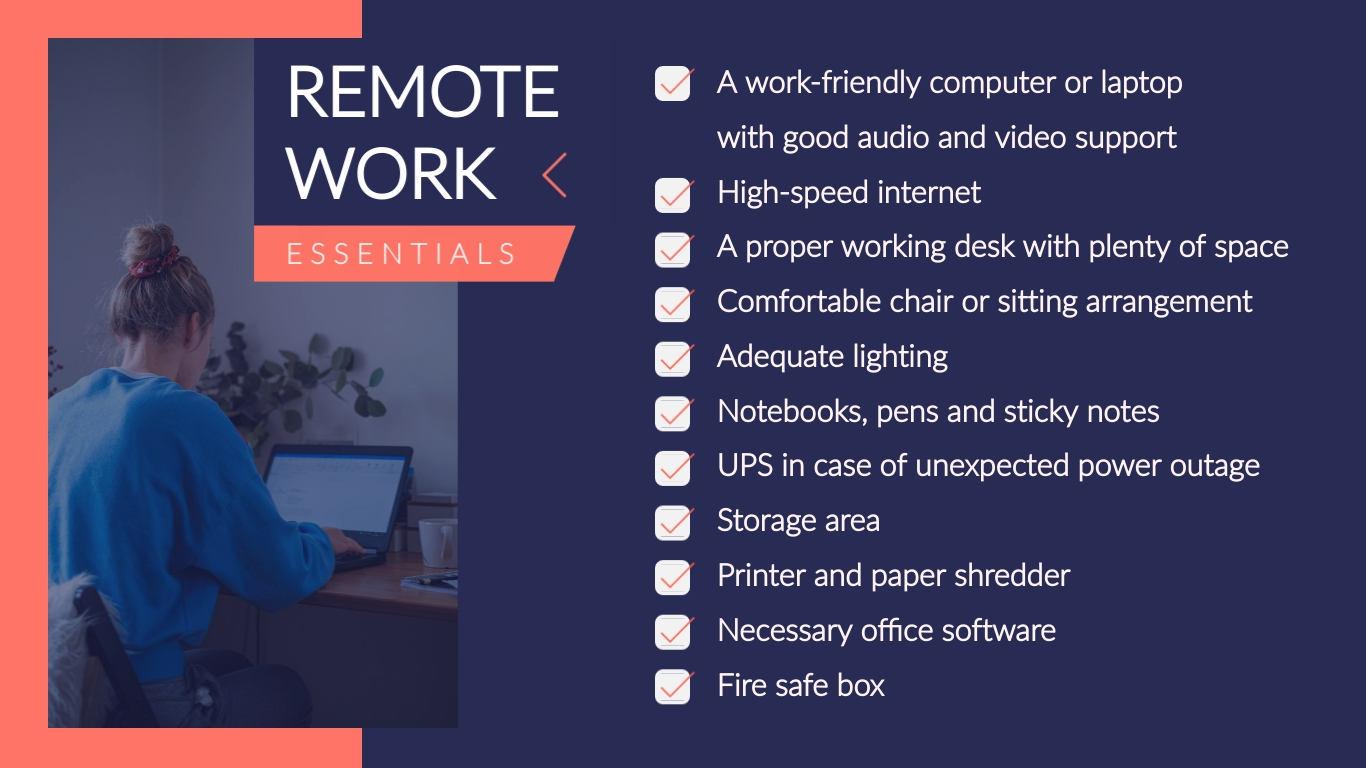 Remote Work Tips - Twitter Ad Template