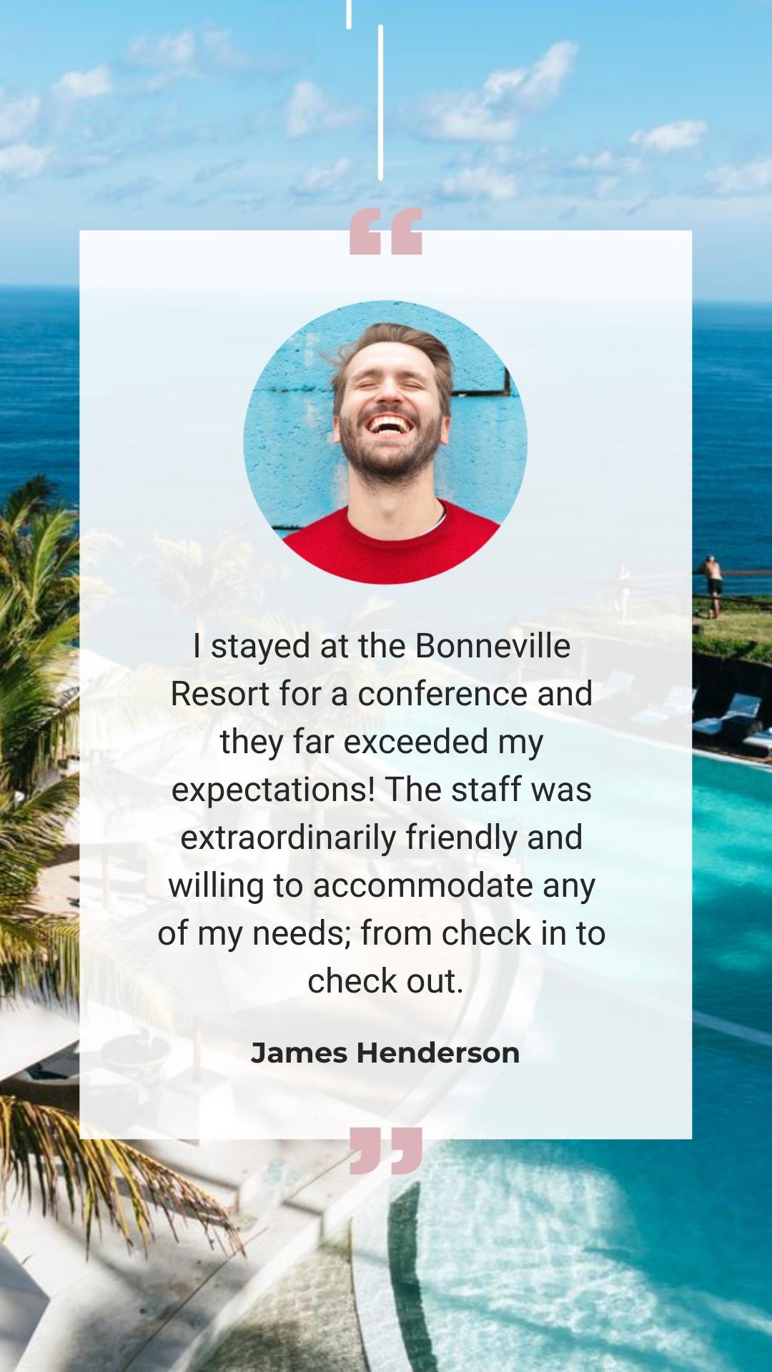 Resort - Video Testimonial Vertical Template