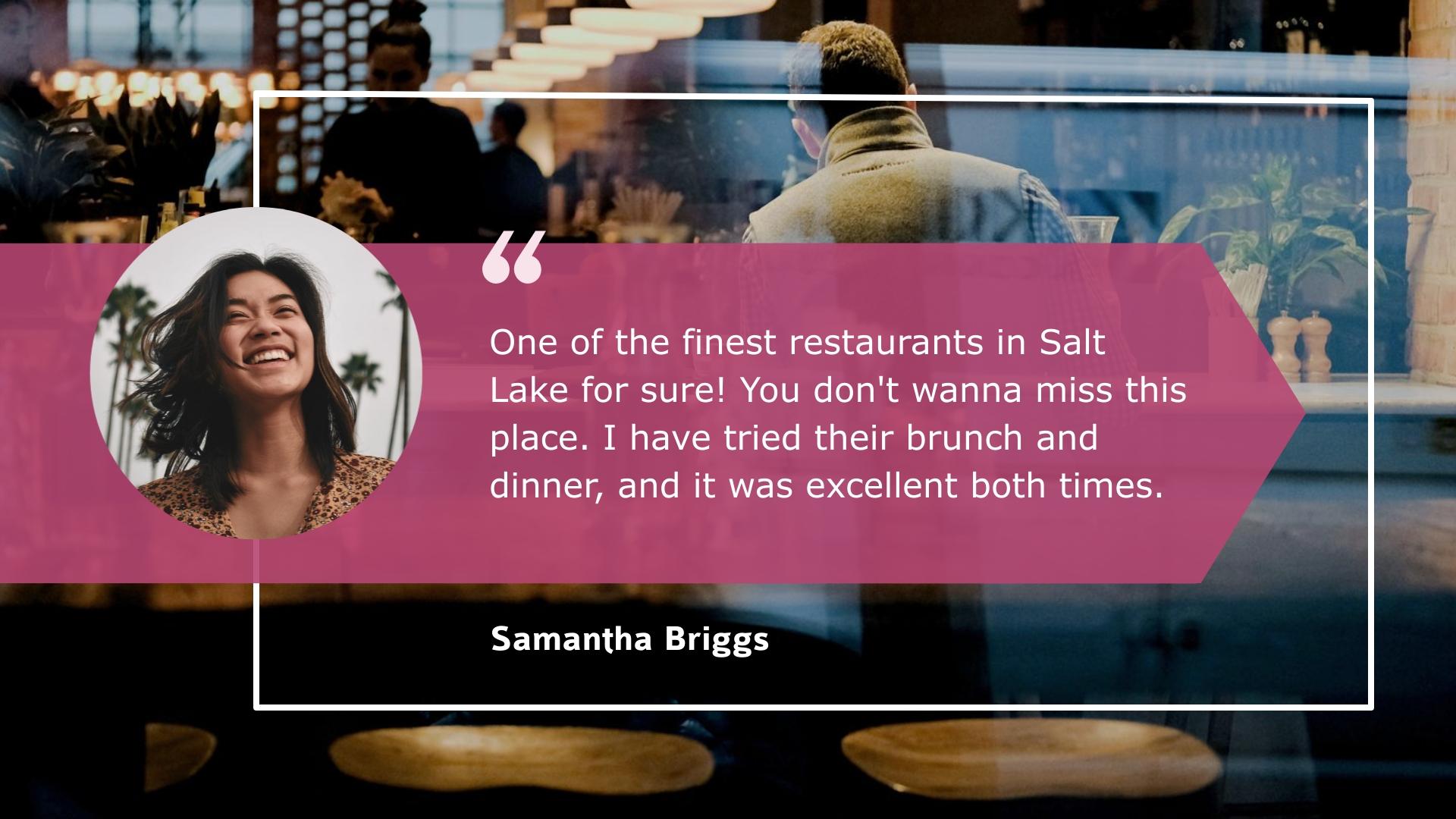 Restaurant - Video Testimonial Template