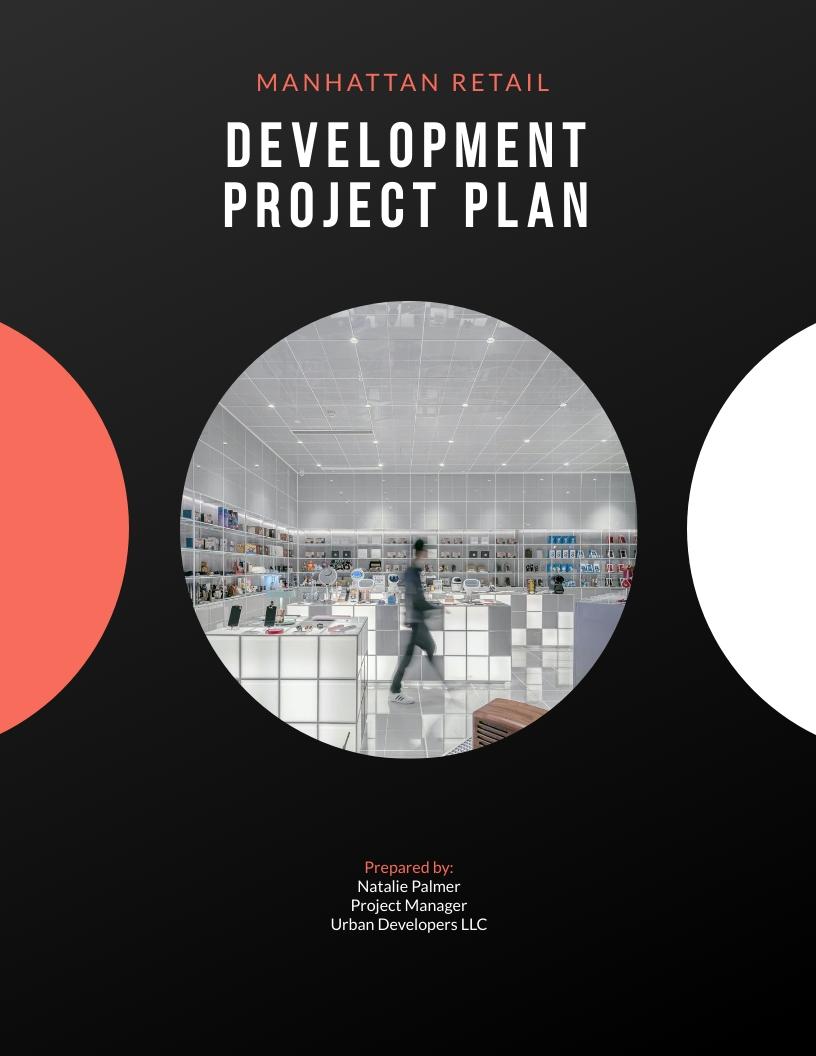 Retail Development - Project Plan Template
