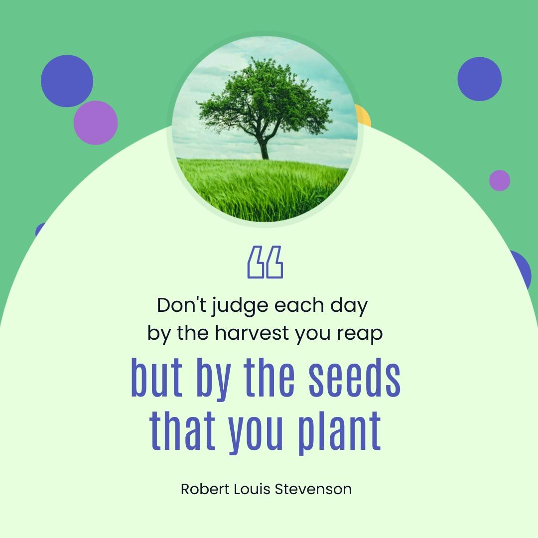 Robert Louis Stevenson Animated Quote Square Template