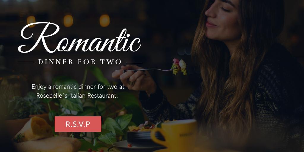 Romantic Dinner Twitter Post   Template