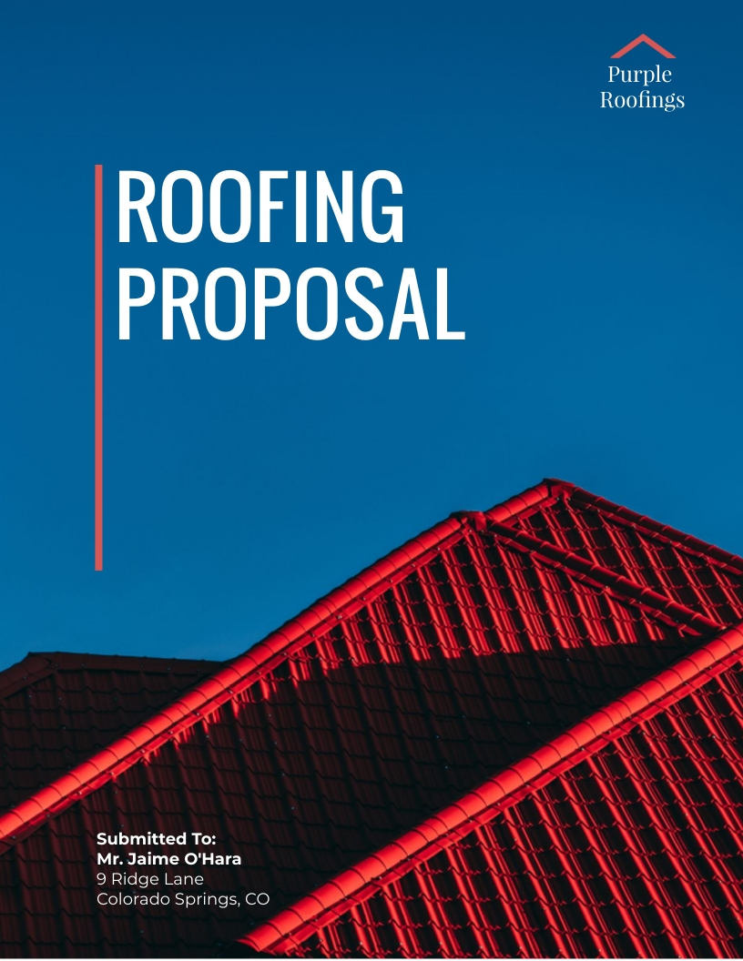 Roofing - Proposal Template