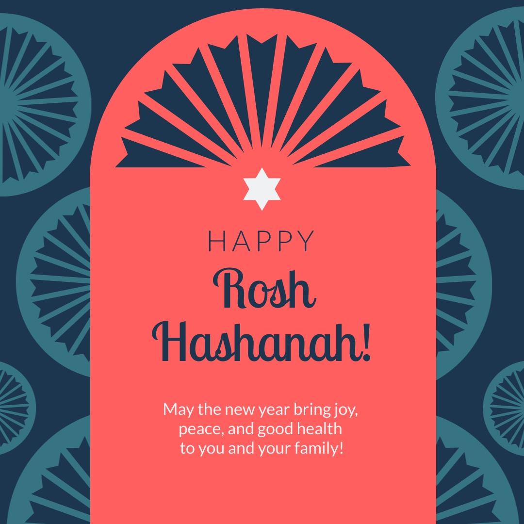 Rosh Hashanah Greeting Animated Square Template