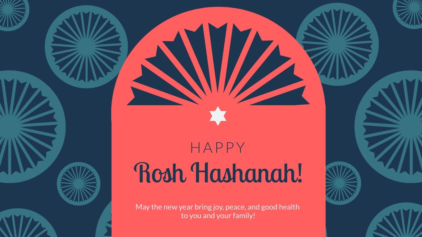 Rosh Hashanah Greeting Animated Wide Template