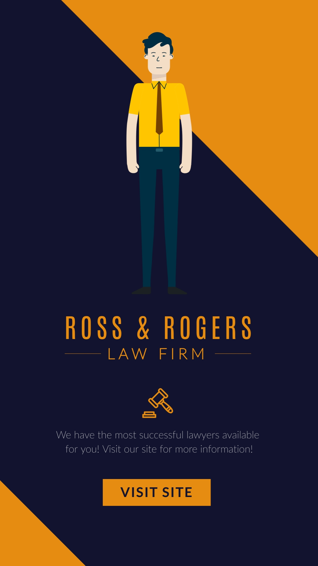 Ross and Rogers Law Firm Vertical Template