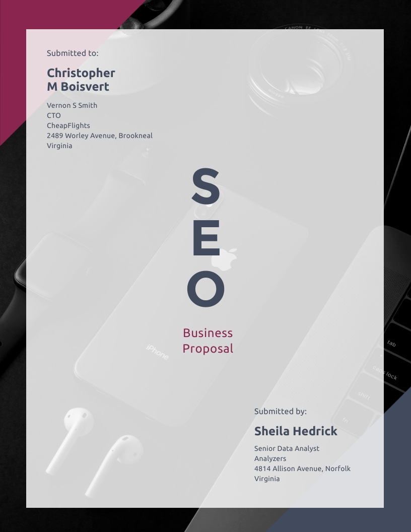 SEO Business - Proposal Template