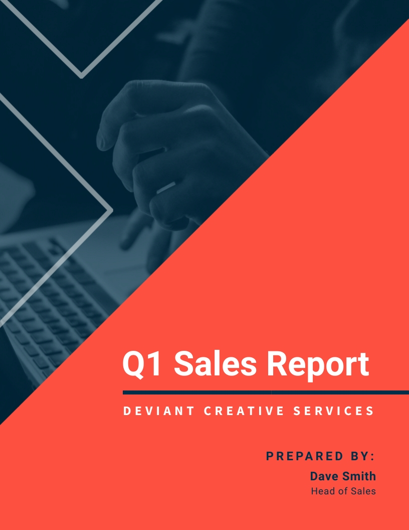 SaaS Company Quarterly Sales Report Template
