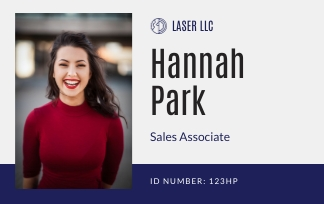 Sales Associate - ID Card Template
