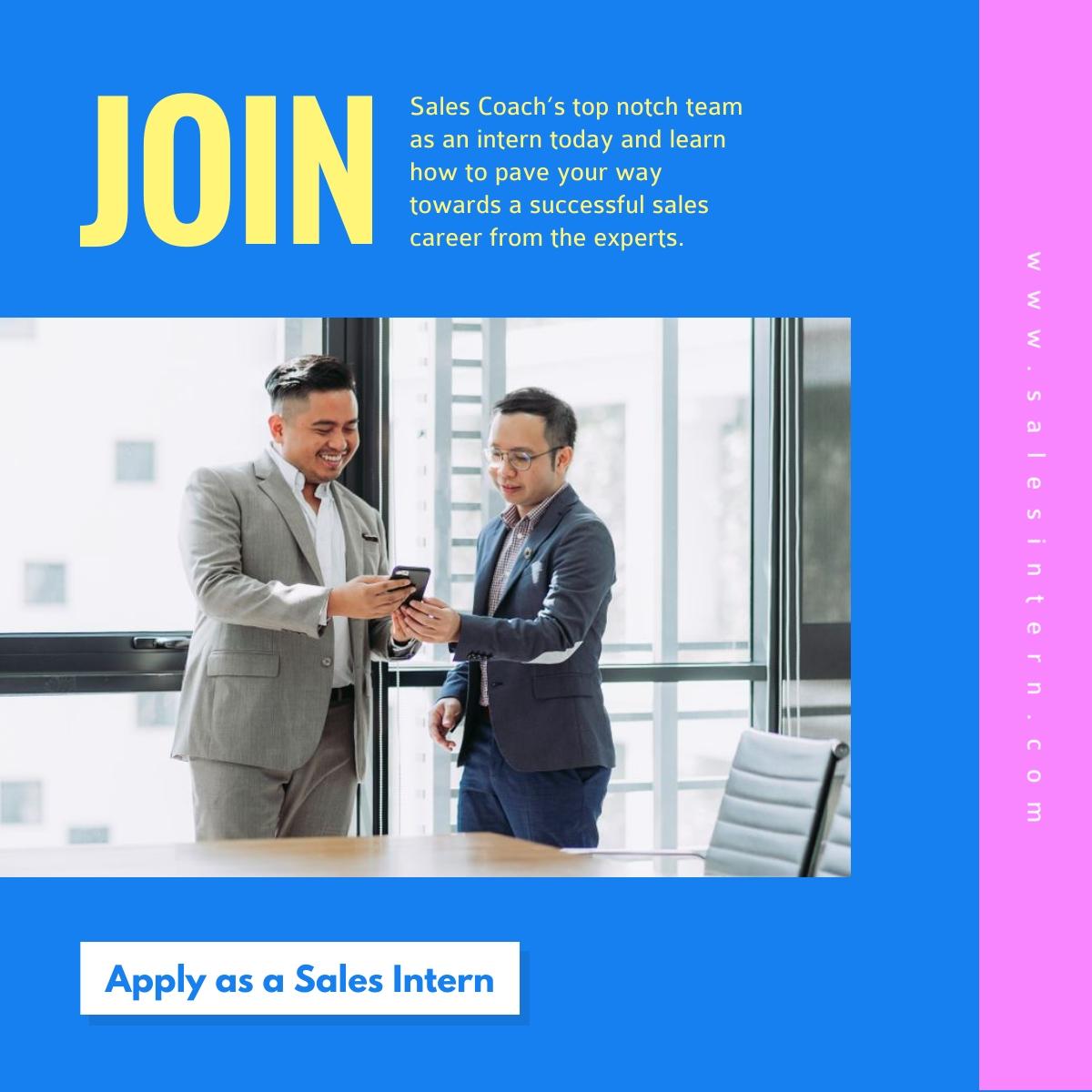 Sales Intern - LinkedIn Post Template