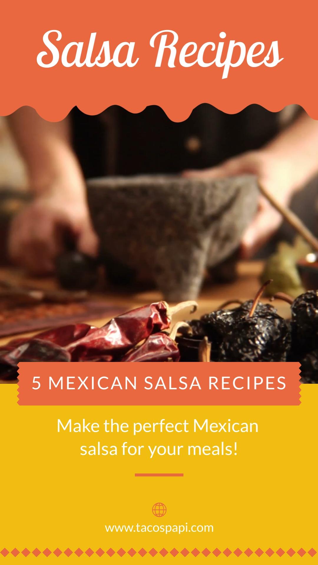 Salsa Recipes Pinterest Video Pin Template