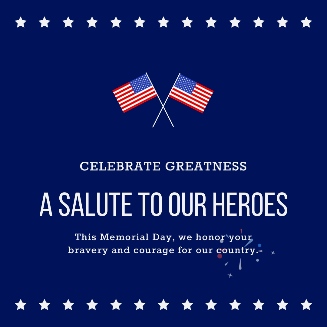 Salute to Heroes Animated Square Template
