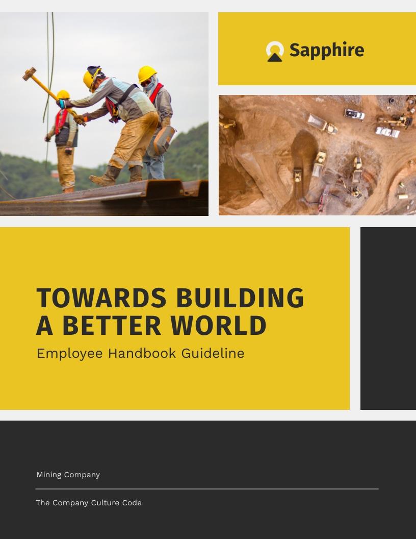 Sapphire Mining Co Employee Handbook Template