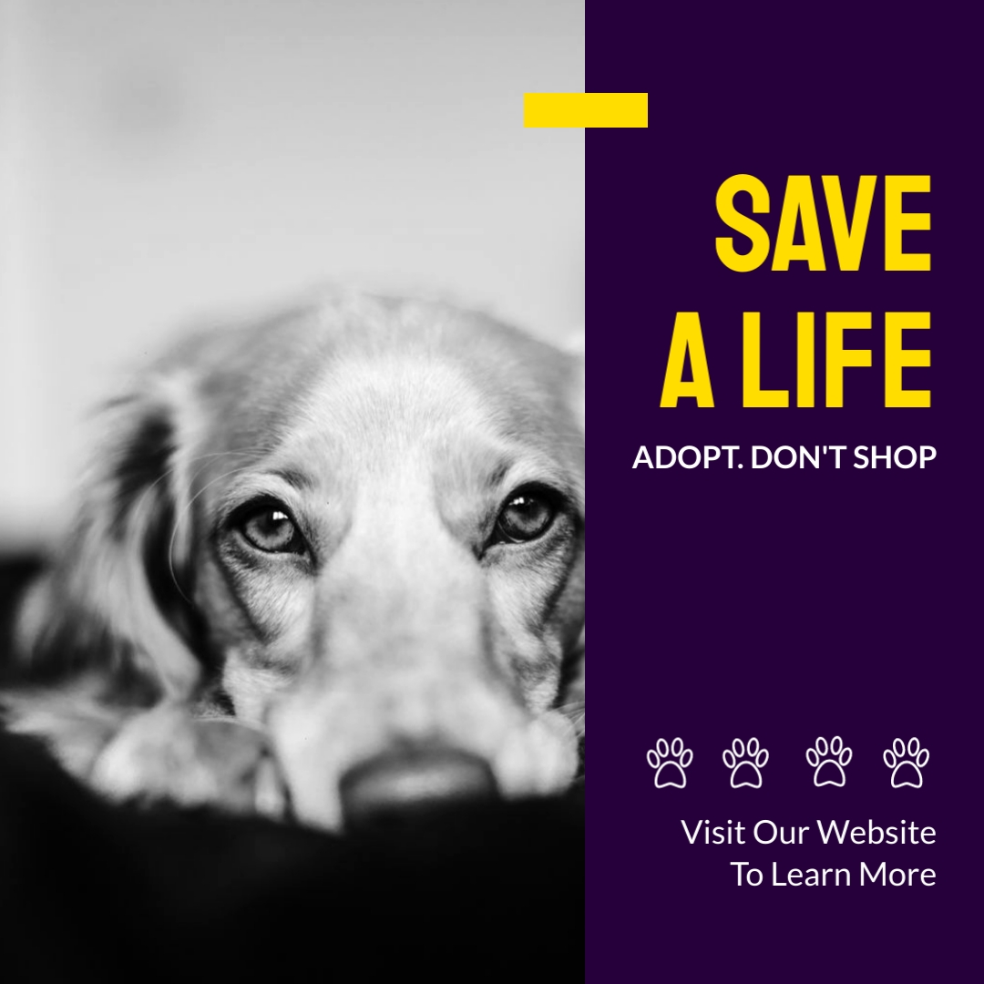 Christmas Rescue Dog Graphics 2021 Save A Life Adoption Instagram Post Template Visme