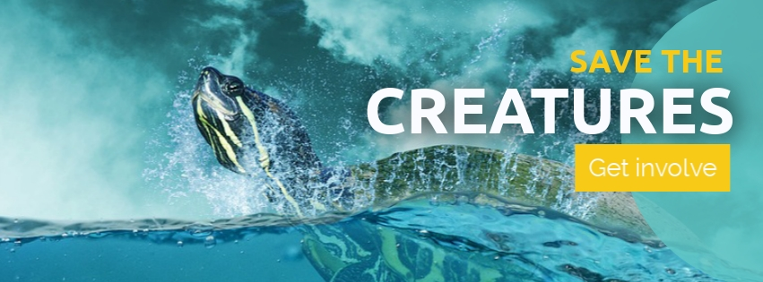 Save the Creatures Facebook Cover Template