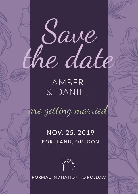 Save the Date - Invitation Template