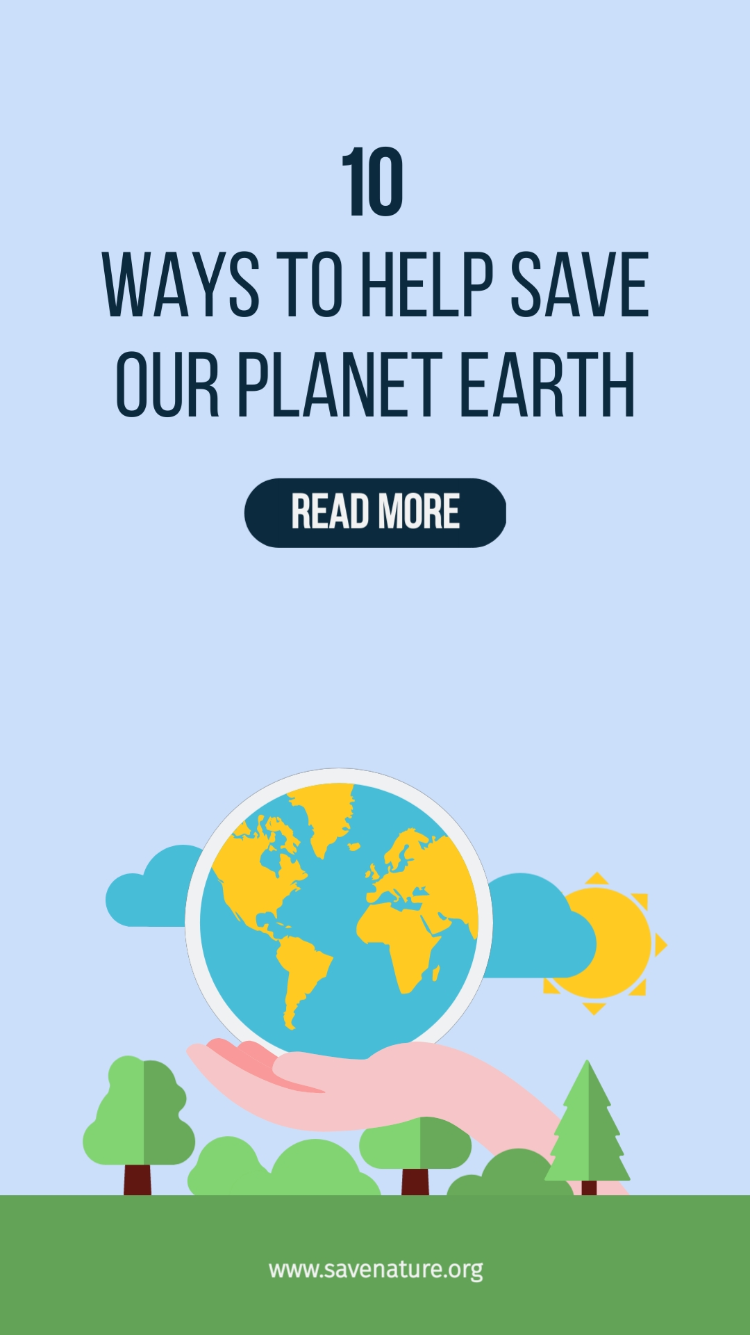 Save the Planet Vertical Template