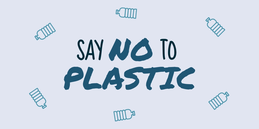 Say No to Plastic Twitter Post  Template
