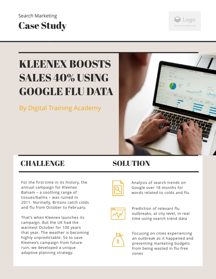 Search Marketing Case Study Template