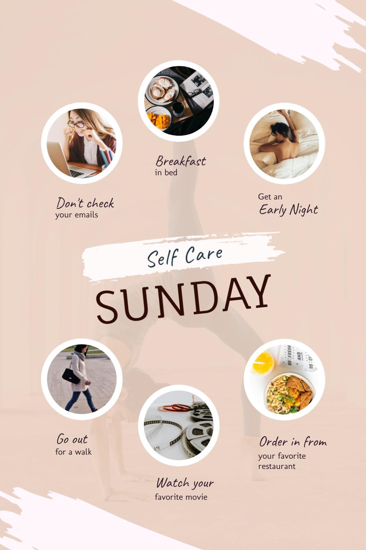 Self-Care Sunday Pinterest Post Template