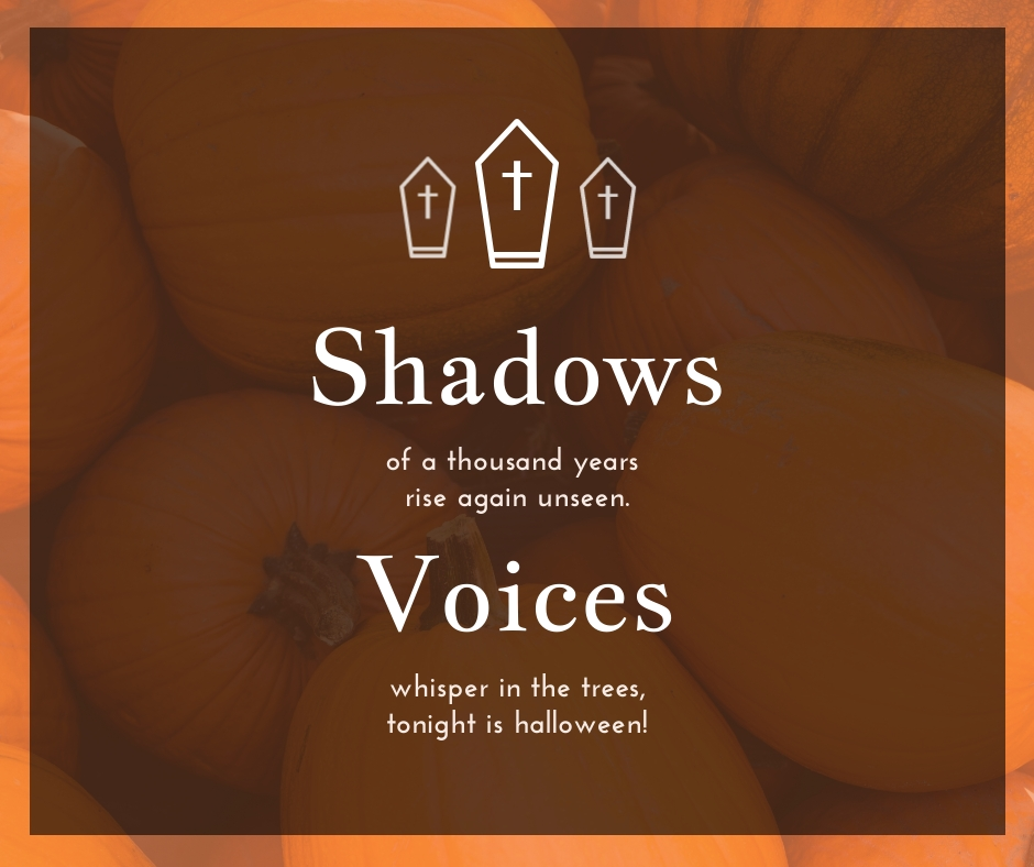 Shadows Voices Halloween Quote Facebook Post Template