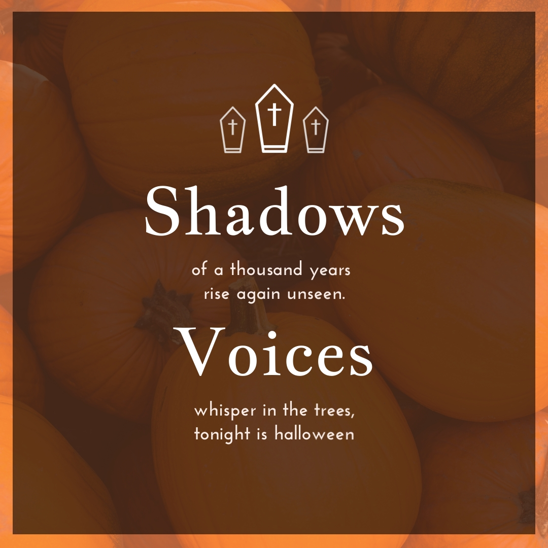 Shadows Voices Halloween Quote Instagram Post Template