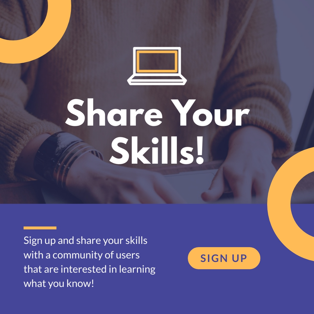 Share Your Skills Animated Square Template