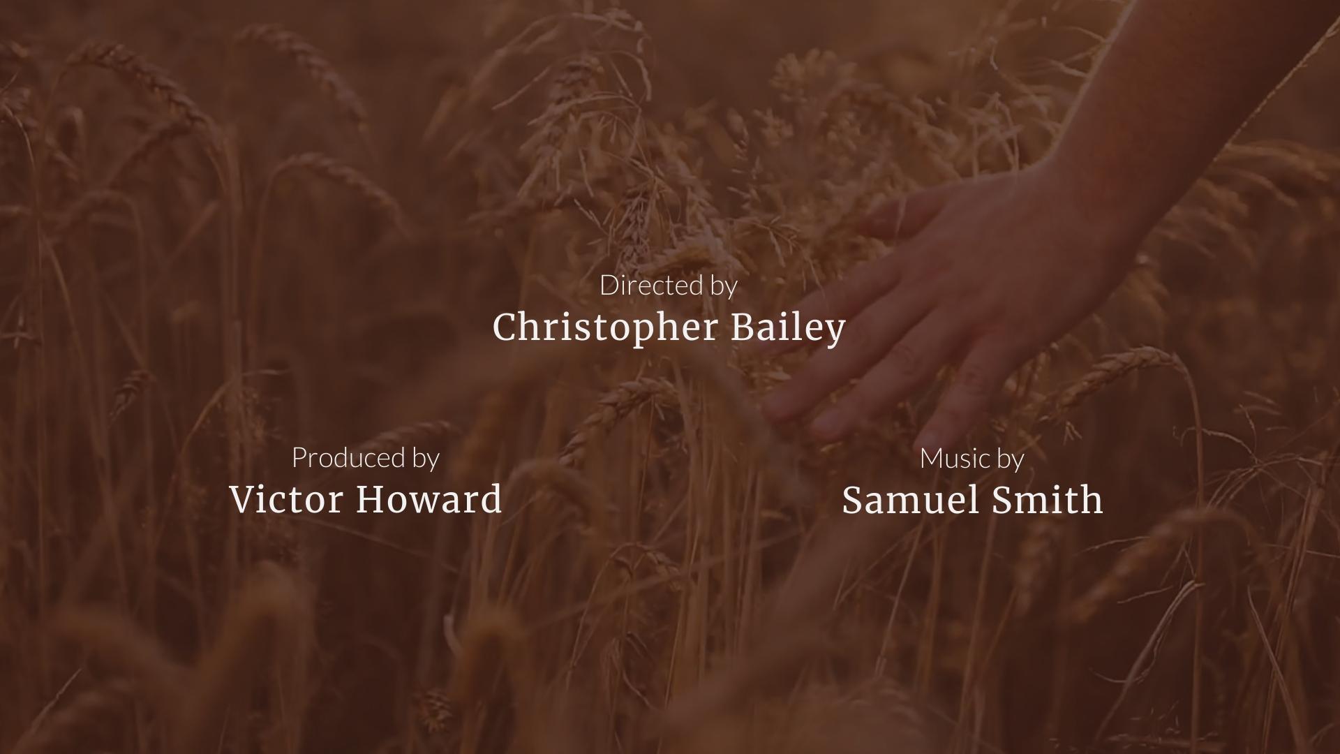 Short Film - Credits Video Template