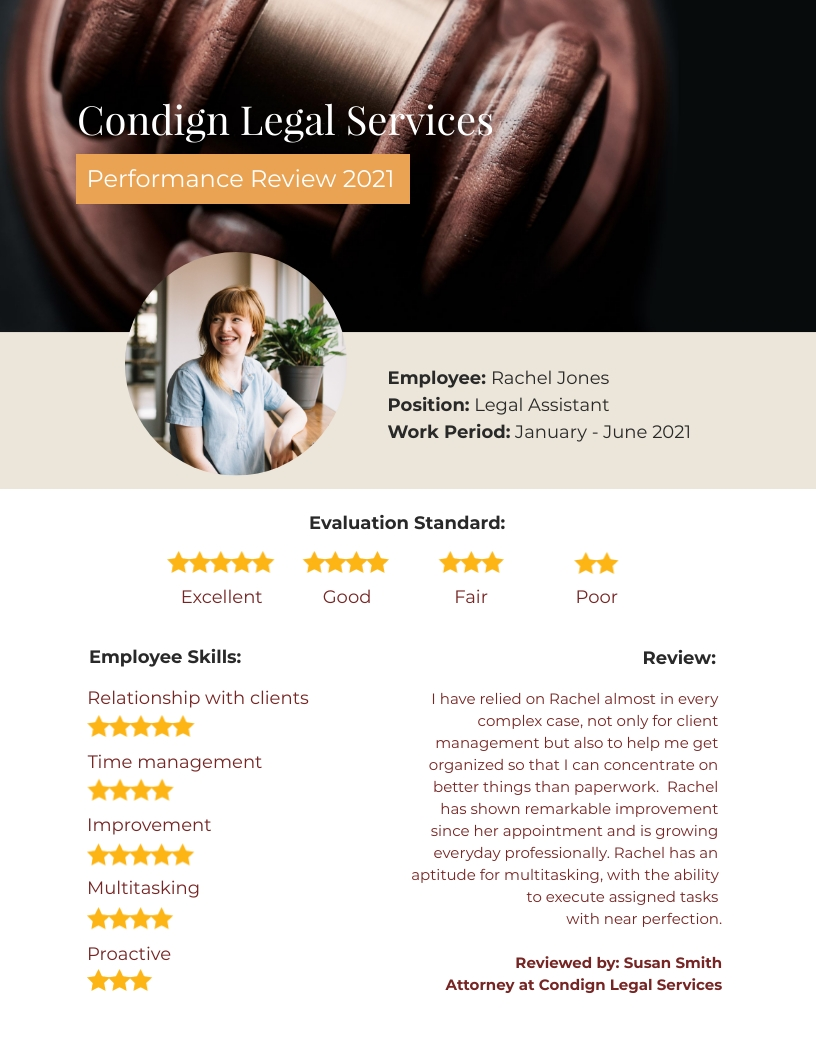 Simple - Performance Review Template