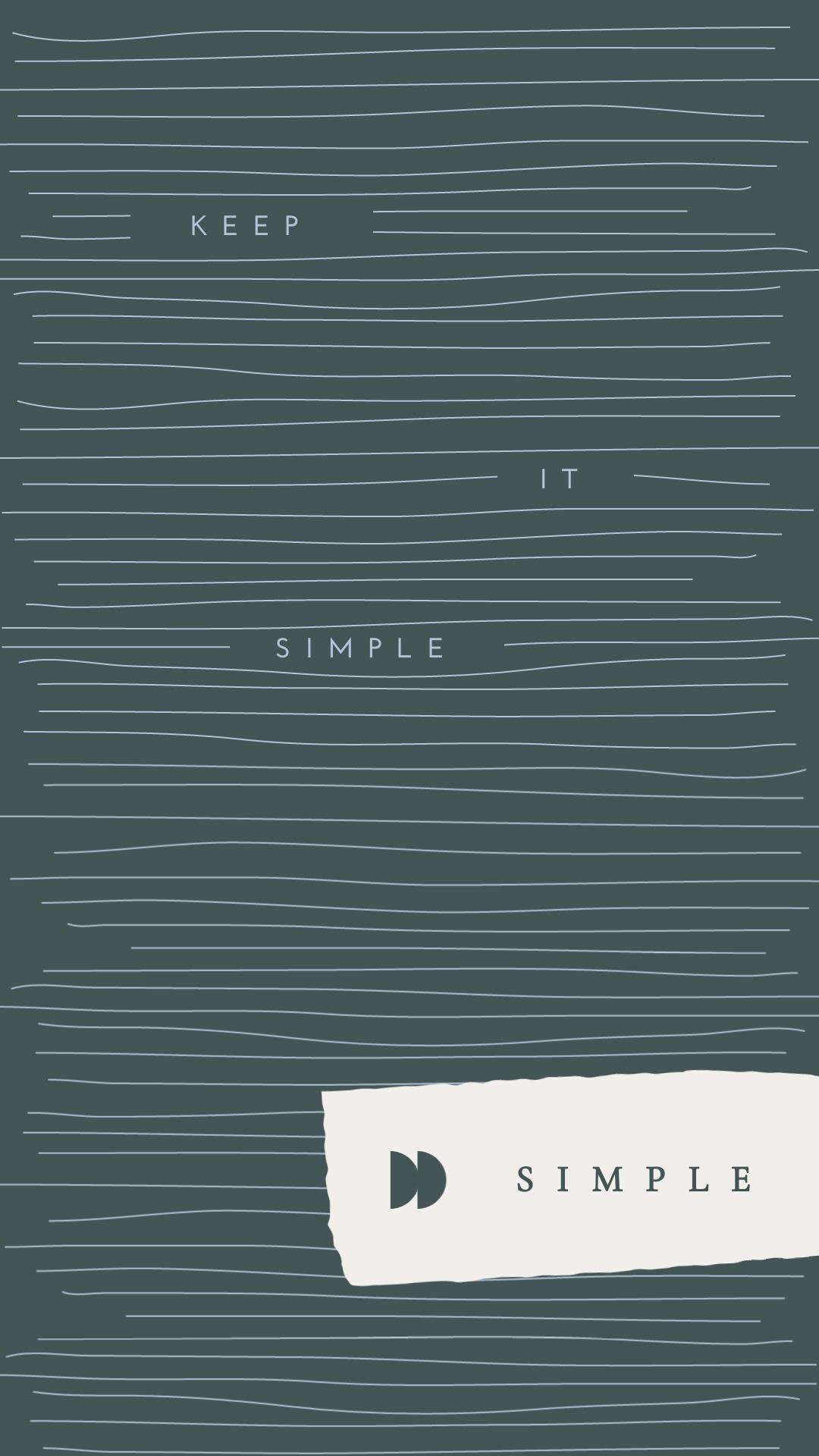 Simple Phone Wallpaper Template