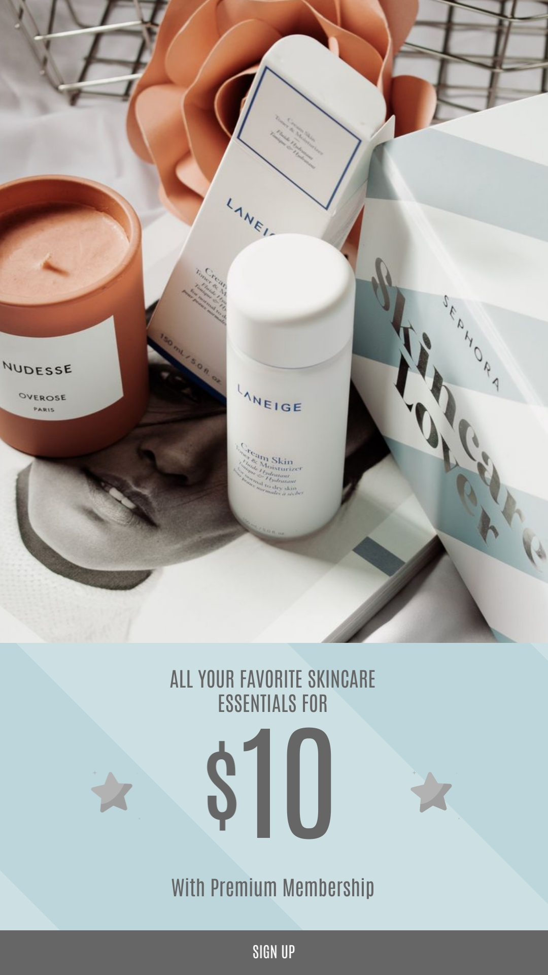 Skincare Essentials Vertical Template