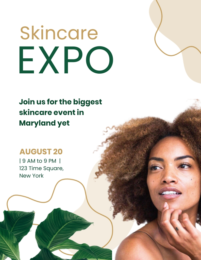 Skincare Expo Flyer Template