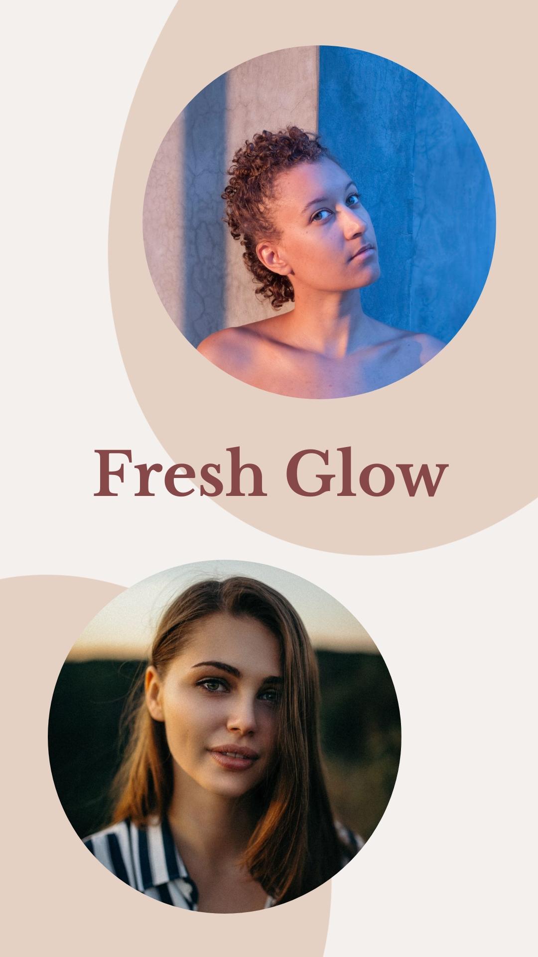 Skincare Fresh Glow Instagram Stories  Template