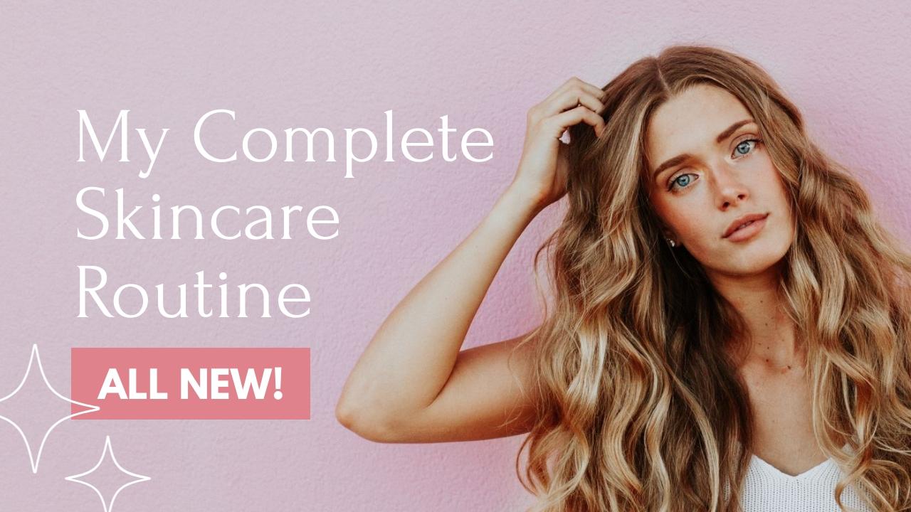 Skincare Routine Youtube Thumbnail Template