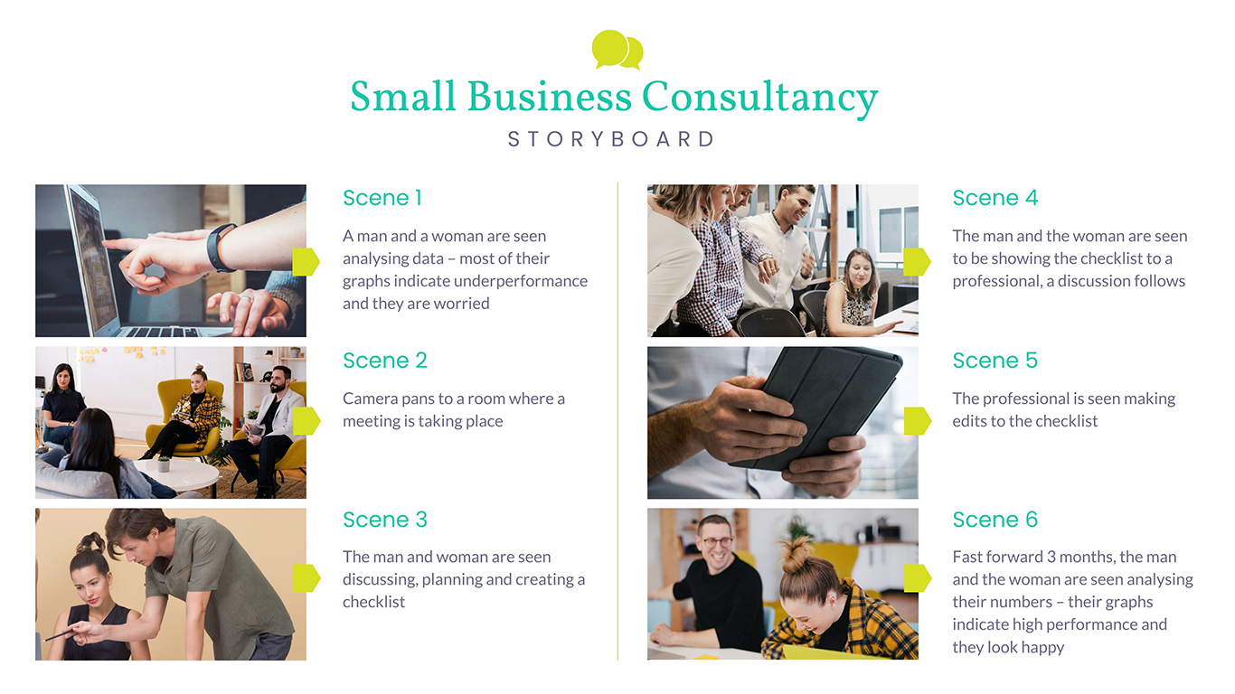 Small Business Consultancy Storyboard Template