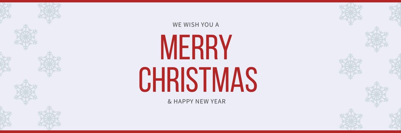 Snowflake Merry Christmas Twitter Header  Template