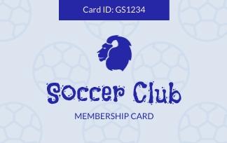 Soccer Club - ID Card Template